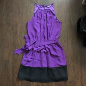 Express purple and black cocktail dress